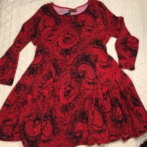 Reborn sz 2XL red paisley dress.